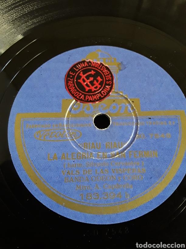 Discos de pizarra: Disco de pizarra LAS PAMPLONAS Y LA ALEGRIA EN SAN FERMIN - Foto 2 - 200112521