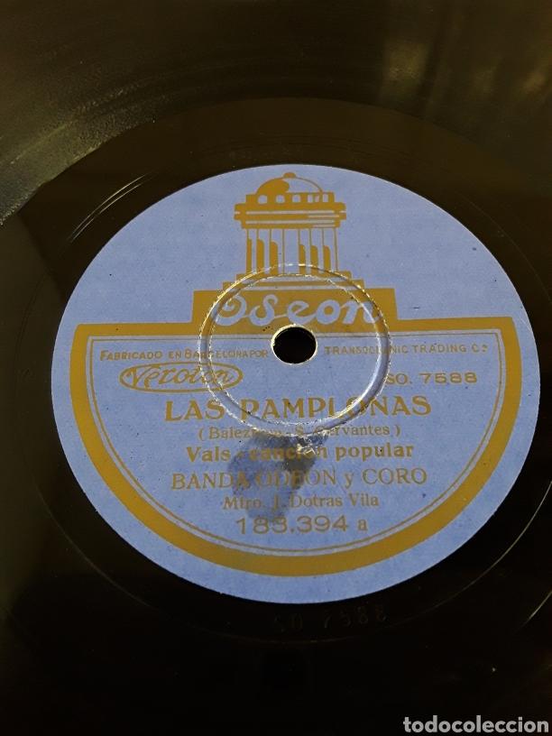 Discos de pizarra: Disco de pizarra LAS PAMPLONAS Y LA ALEGRIA EN SAN FERMIN - Foto 3 - 200112521