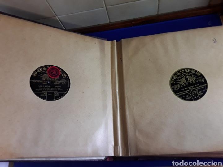Discos de pizarra: Antiguo álbum de discos de piedra o pizarra de 29 cm POLIDOR - Foto 3 - 200796622