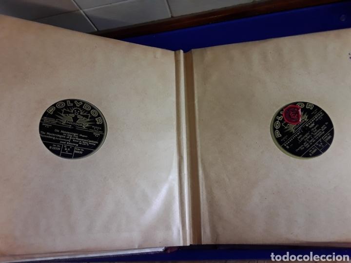 Discos de pizarra: Antiguo álbum de discos de piedra o pizarra de 29 cm POLIDOR - Foto 4 - 200796622