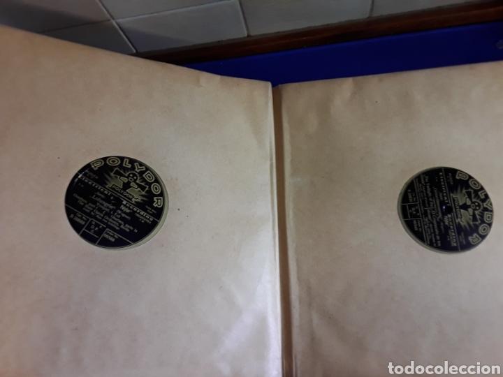 Discos de pizarra: Antiguo álbum de discos de piedra o pizarra de 29 cm POLIDOR - Foto 5 - 200796622
