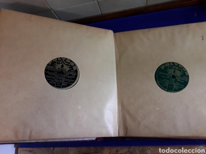 Discos de pizarra: Antiguo álbum de discos de piedra o pizarra de 29 cm POLIDOR - Foto 8 - 200796622