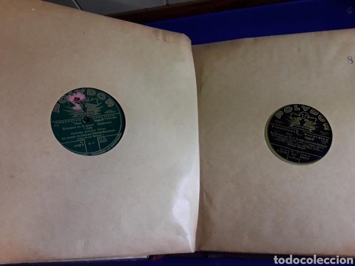 Discos de pizarra: Antiguo álbum de discos de piedra o pizarra de 29 cm POLIDOR - Foto 9 - 200796622