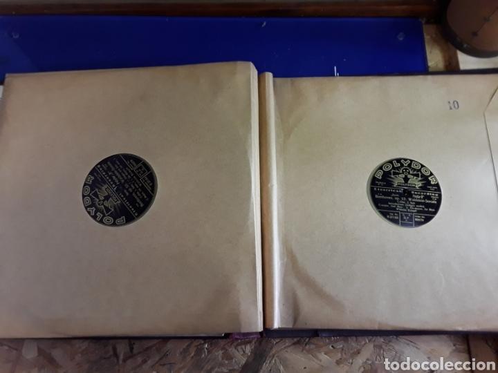 Discos de pizarra: Antiguo álbum de discos de piedra o pizarra de 29 cm POLIDOR - Foto 11 - 200796622