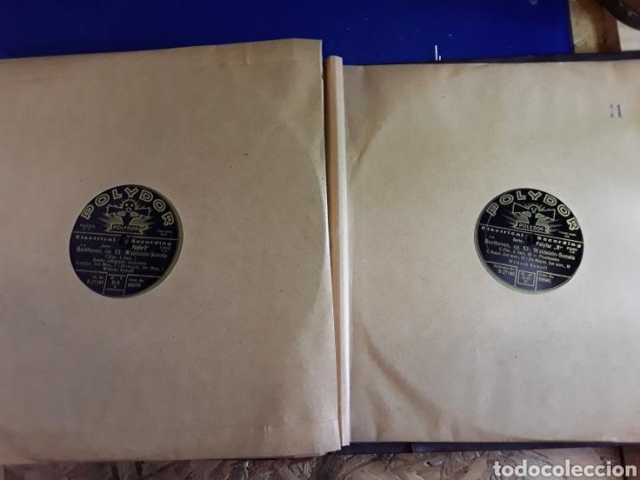 Discos de pizarra: Antiguo álbum de discos de piedra o pizarra de 29 cm POLIDOR - Foto 12 - 200796622