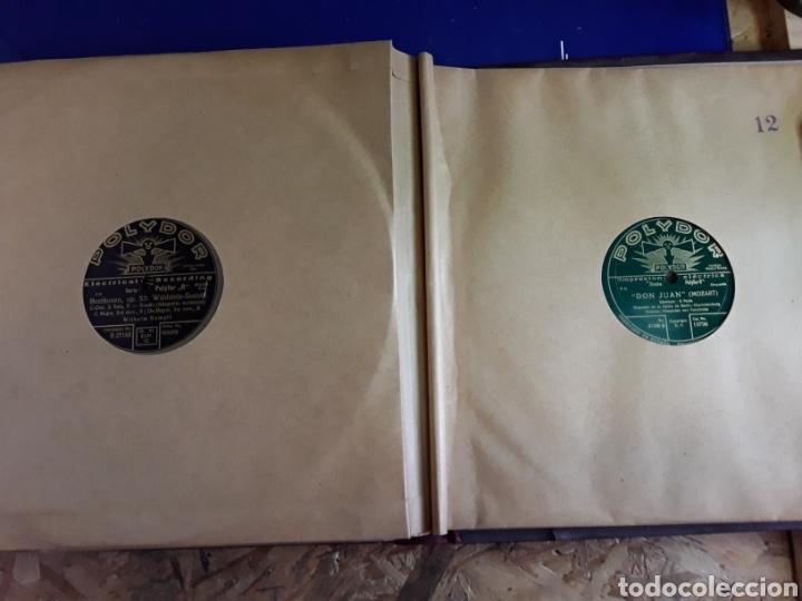Discos de pizarra: Antiguo álbum de discos de piedra o pizarra de 29 cm POLIDOR - Foto 13 - 200796622