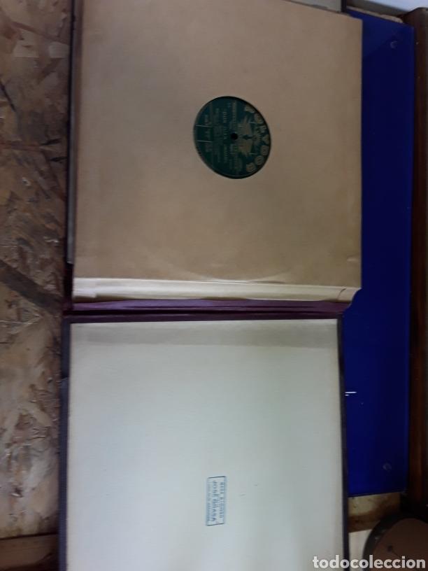 Discos de pizarra: Antiguo álbum de discos de piedra o pizarra de 29 cm POLIDOR - Foto 14 - 200796622