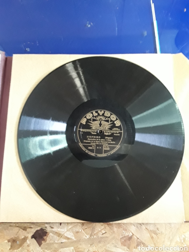 Discos de pizarra: Antiguo álbum de discos de piedra o pizarra de 29 cm POLIDOR - Foto 16 - 200796622
