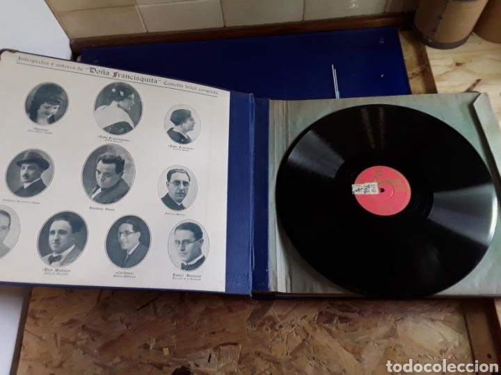 Discos de pizarra: Antiguo álbum completo de discos de pizarra de 29cm de la comedia lírica DOÑA FRANCISQUITA - Foto 2 - 200797616