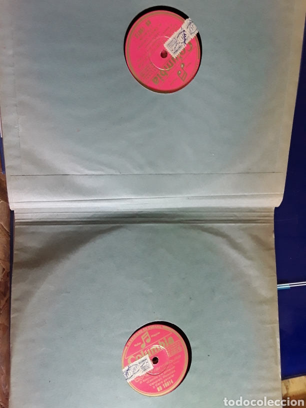 Discos de pizarra: Antiguo álbum completo de discos de pizarra de 29cm de la comedia lírica DOÑA FRANCISQUITA - Foto 5 - 200797616