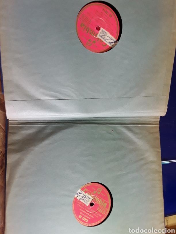 Discos de pizarra: Antiguo álbum completo de discos de pizarra de 29cm de la comedia lírica DOÑA FRANCISQUITA - Foto 6 - 200797616