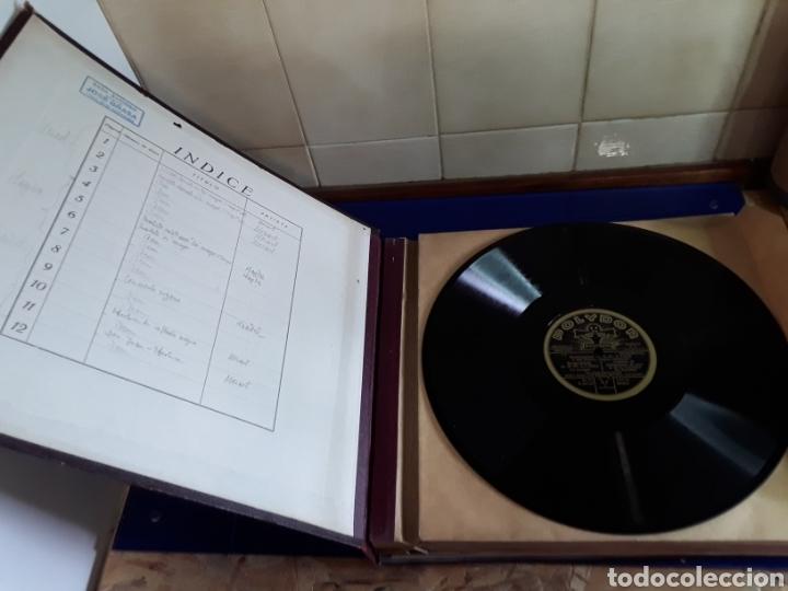 Discos de pizarra: Antiguo álbum de discos de piedra o pizarra de 29 cm POLIDOR,con álbum - Foto 2 - 200798160