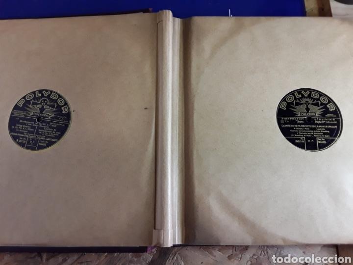 Discos de pizarra: Antiguo álbum de discos de piedra o pizarra de 29 cm POLIDOR,con álbum - Foto 3 - 200798160