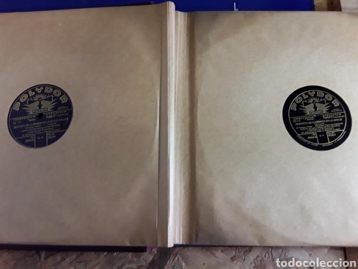 Discos de pizarra: Antiguo álbum de discos de piedra o pizarra de 29 cm POLIDOR,con álbum - Foto 4 - 200798160