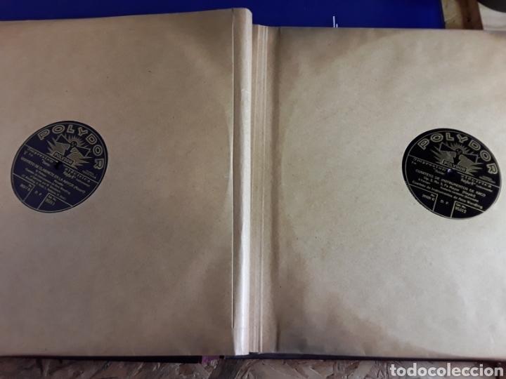 Discos de pizarra: Antiguo álbum de discos de piedra o pizarra de 29 cm POLIDOR,con álbum - Foto 5 - 200798160