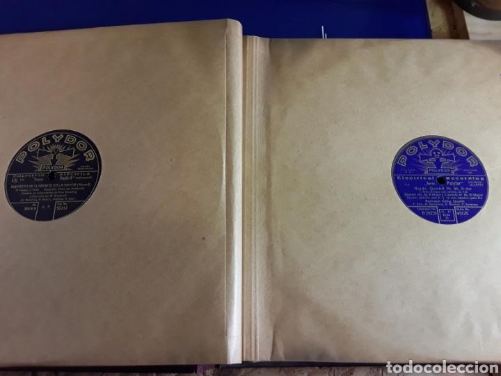 Discos de pizarra: Antiguo álbum de discos de piedra o pizarra de 29 cm POLIDOR,con álbum - Foto 6 - 200798160