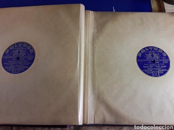 Discos de pizarra: Antiguo álbum de discos de piedra o pizarra de 29 cm POLIDOR,con álbum - Foto 7 - 200798160