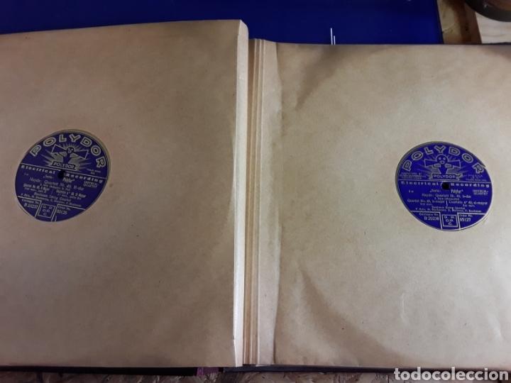 Discos de pizarra: Antiguo álbum de discos de piedra o pizarra de 29 cm POLIDOR,con álbum - Foto 8 - 200798160
