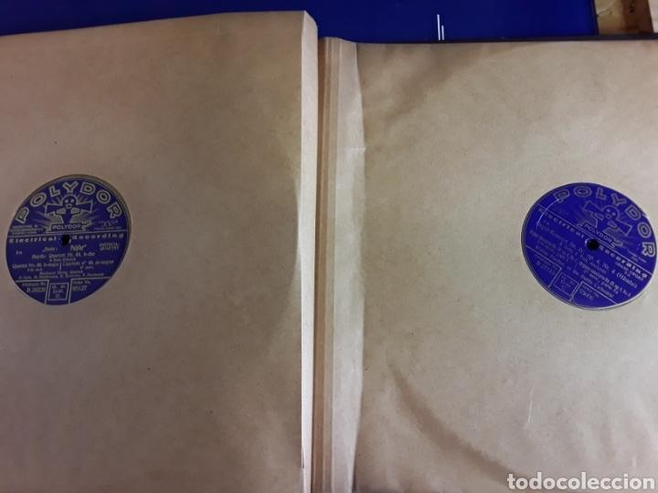 Discos de pizarra: Antiguo álbum de discos de piedra o pizarra de 29 cm POLIDOR,con álbum - Foto 9 - 200798160