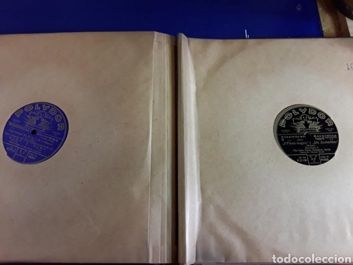 Discos de pizarra: Antiguo álbum de discos de piedra o pizarra de 29 cm POLIDOR,con álbum - Foto 11 - 200798160