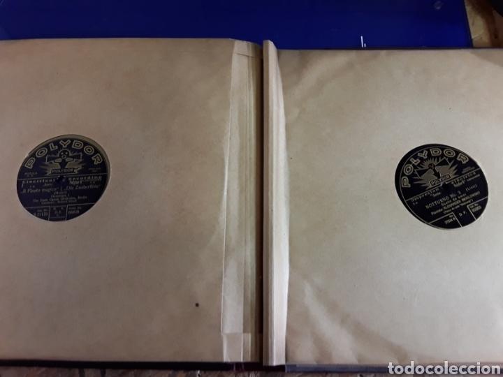 Discos de pizarra: Antiguo álbum de discos de piedra o pizarra de 29 cm POLIDOR,con álbum - Foto 12 - 200798160