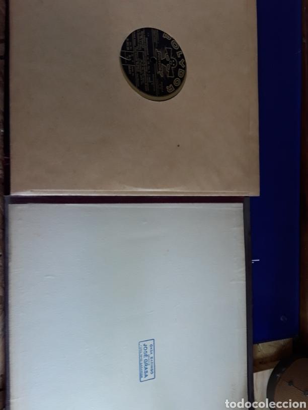 Discos de pizarra: Antiguo álbum de discos de piedra o pizarra de 29 cm POLIDOR,con álbum - Foto 14 - 200798160