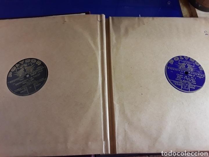 Discos de pizarra: Antiguo álbum de discos de piedra o pizarra de 29 cm POLIDOR,con álbum - Foto 3 - 200799491