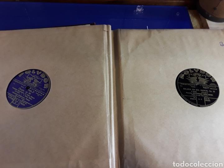 Discos de pizarra: Antiguo álbum de discos de piedra o pizarra de 29 cm POLIDOR,con álbum - Foto 4 - 200799491