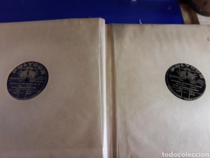 Discos de pizarra: Antiguo álbum de discos de piedra o pizarra de 29 cm POLIDOR,con álbum - Foto 5 - 200799491