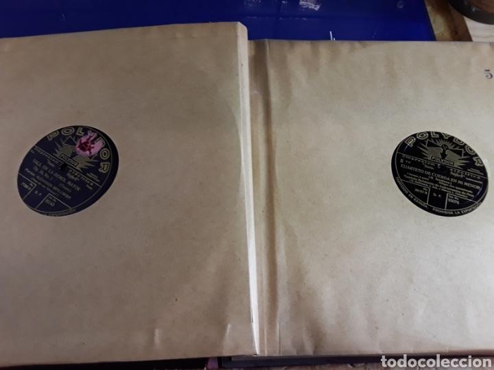 Discos de pizarra: Antiguo álbum de discos de piedra o pizarra de 29 cm POLIDOR,con álbum - Foto 6 - 200799491