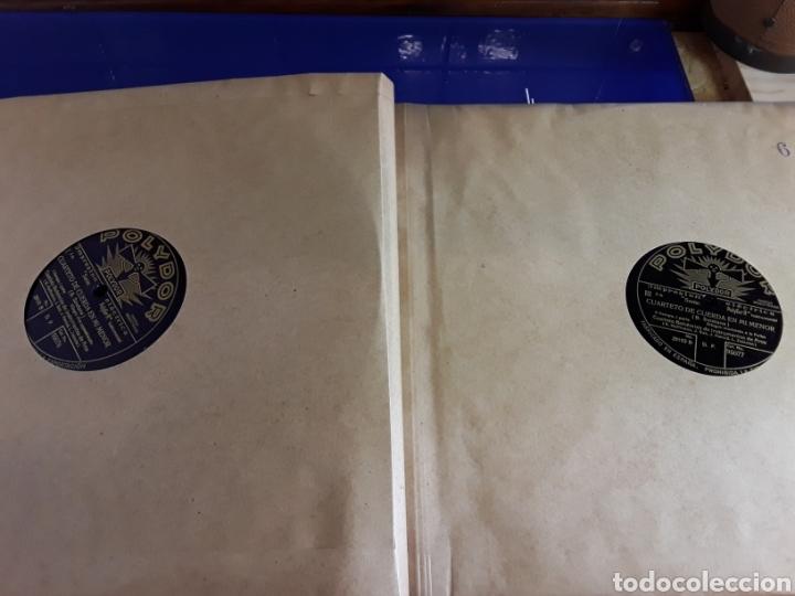 Discos de pizarra: Antiguo álbum de discos de piedra o pizarra de 29 cm POLIDOR,con álbum - Foto 7 - 200799491
