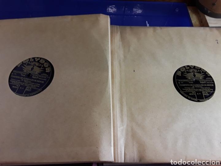 Discos de pizarra: Antiguo álbum de discos de piedra o pizarra de 29 cm POLIDOR,con álbum - Foto 8 - 200799491