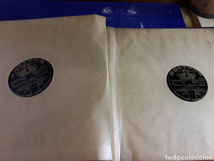 Discos de pizarra: Antiguo álbum de discos de piedra o pizarra de 29 cm POLIDOR,con álbum - Foto 9 - 200799491