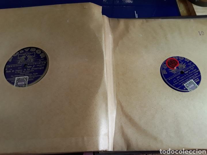 Discos de pizarra: Antiguo álbum de discos de piedra o pizarra de 29 cm POLIDOR,con álbum - Foto 11 - 200799491