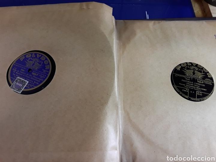 Discos de pizarra: Antiguo álbum de discos de piedra o pizarra de 29 cm POLIDOR,con álbum - Foto 12 - 200799491