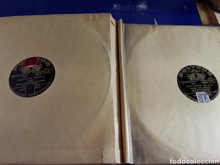 Discos de pizarra: Antiguo álbum de discos de piedra o pizarra de 29 cm POLIDOR,con álbum - Foto 13 - 200799491