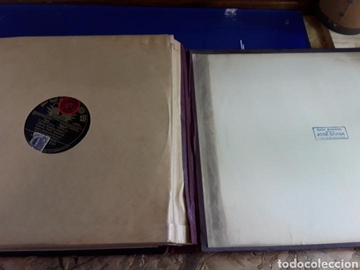 Discos de pizarra: Antiguo álbum de discos de piedra o pizarra de 29 cm POLIDOR,con álbum - Foto 14 - 200799491
