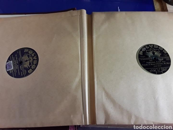 Discos de pizarra: Antiguo álbum de discos varios de piedra o pizarra de 29 cm POLIDOR,OSEON,REGAL,CON ALBUM - Foto 4 - 200800211
