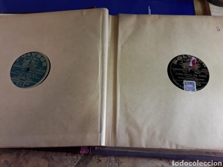 Discos de pizarra: Antiguo álbum de discos varios de piedra o pizarra de 29 cm POLIDOR,OSEON,REGAL,CON ALBUM - Foto 6 - 200800211