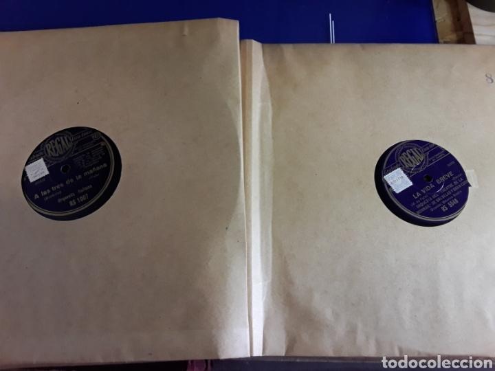 Discos de pizarra: Antiguo álbum de discos varios de piedra o pizarra de 29 cm POLIDOR,OSEON,REGAL,CON ALBUM - Foto 9 - 200800211