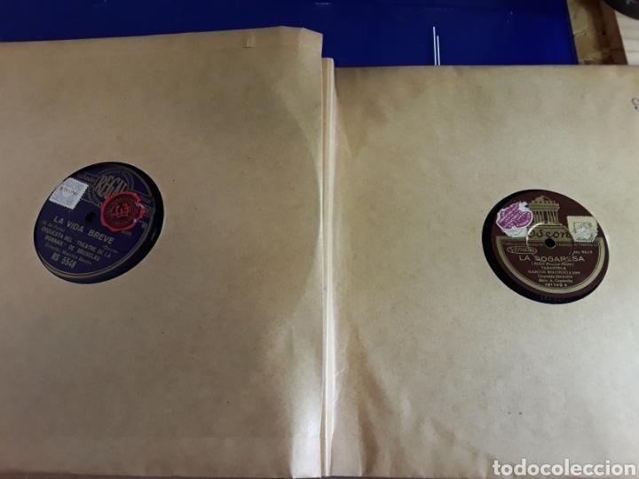 Discos de pizarra: Antiguo álbum de discos varios de piedra o pizarra de 29 cm POLIDOR,OSEON,REGAL,CON ALBUM - Foto 10 - 200800211