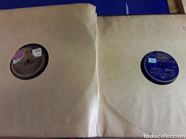 Discos de pizarra: Antiguo álbum de discos varios de piedra o pizarra de 29 cm POLIDOR,OSEON,REGAL,CON ALBUM - Foto 11 - 200800211