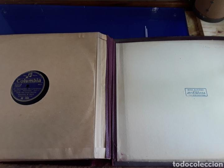 Discos de pizarra: Antiguo álbum de discos varios de piedra o pizarra de 29 cm POLIDOR,OSEON,REGAL,CON ALBUM - Foto 14 - 200800211
