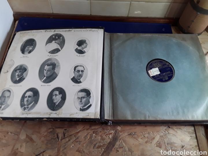 Discos de pizarra: Antiguo álbum completo de discos de pizarra de 29cm de la comedia lírica DOÑA FRANCISQUITA(regal) - Foto 2 - 200803240