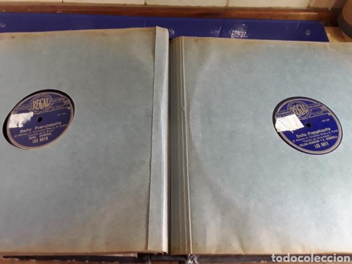Discos de pizarra: Antiguo álbum completo de discos de pizarra de 29cm de la comedia lírica DOÑA FRANCISQUITA(regal) - Foto 6 - 200803240