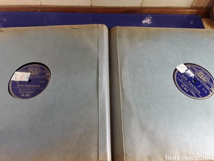 Discos de pizarra: Antiguo álbum completo de discos de pizarra de 29cm de la comedia lírica DOÑA FRANCISQUITA(regal) - Foto 7 - 200803240