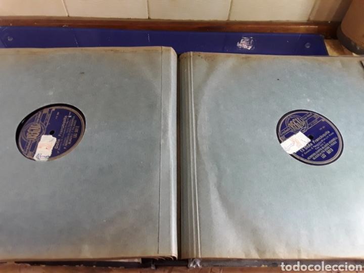 Discos de pizarra: Antiguo álbum completo de discos de pizarra de 29cm de la comedia lírica DOÑA FRANCISQUITA(regal) - Foto 8 - 200803240