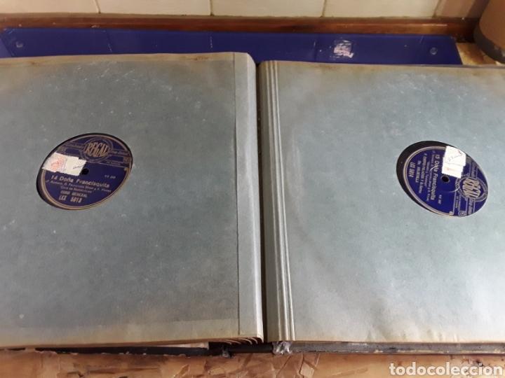 Discos de pizarra: Antiguo álbum completo de discos de pizarra de 29cm de la comedia lírica DOÑA FRANCISQUITA(regal) - Foto 9 - 200803240