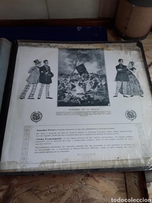 Discos de pizarra: Antiguo álbum completo de discos de pizarra de 29cm de la comedia lírica DOÑA FRANCISQUITA(regal) - Foto 11 - 200803240