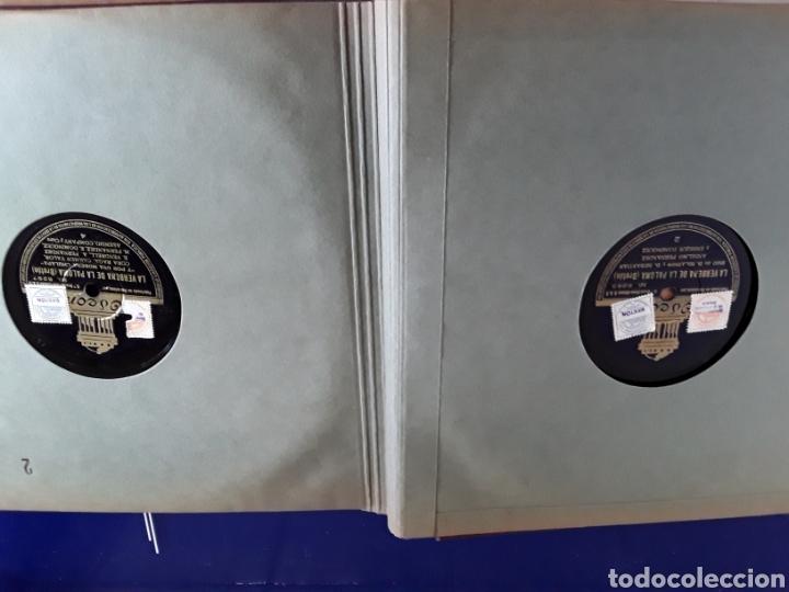 Discos de pizarra: Bonito Album de discos pequeños de pizarra de 24,5cm,grabados por ODEON,LA VERBENA DE LA PALOMA - Foto 6 - 200807066